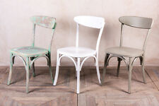 WOODEN CAFE CHAIRS BENTWOOD RESTAURANT CHAIR WITH DISTRESSED PAINTWORK
