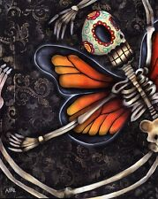 Reaching Up Abril Andrade Griffith Monarch Butterfly Skeleton Canvas Art Print