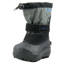 Columbia Powderbug Plus II Toddler  Round Toe Canvas Black Snow Boot NWOB
