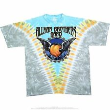 The Allman Brothers Band Flying Peach V Mushroom Tie Dye Mens T Tee Shirt S-2Xl