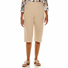 Alfred Dunner Feels Like Spring Capris Tan Size 6P Msrp $48.00 New