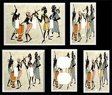 AFRICAN TRIBAL DANCE LIGHT SWITCH COVER PLATE