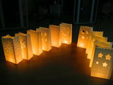 10 Luminary Paper Lantern Bags Candle Light Table Wedding BBQ Xmas Decor Party
