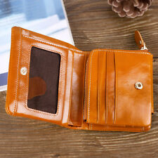 Womens Fashion Clutch Handbag Zip-around Coin Purse Real Leather Trifold Wallet