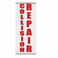 We Buy Cars Blue Red Double Sided Vertical Pole Banner Sign