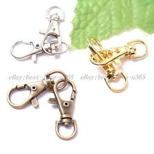 Gold & Silver & Bronze, Metal Swivel Lobster Clasps Clips Jewelry Findings 39MM