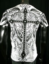 ROYAL GRIFFIN CROSS T SHIRT FALLEN ANGEL MMA TATTOO MEN'S ALL SIZES BATTLE WEAR