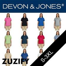 Devon & Jones Ladies Pima Pique Short-Sleeve Polo Shirt. D112W