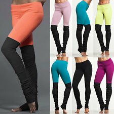 2017 Womens Patchwork Yoga Dance Running Exercise Base Layer Pants 6 Colors