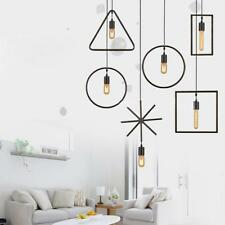 Geometric Shaped Vintage Edison Ceiling Pendant Light Lamp Holder Fixture