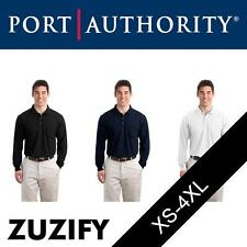 "Port Authority Long Sleeve ""Silk Touch"" Polo Shirt with Pocket. K500LSP"