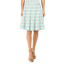 Geometric Bears on Mint A-Line Skirt Sizes XS-3XL Flared Skirt