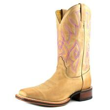 """Nocona 11"""" Let's Rodeo Women  Square Toe Leather Brown Western Boot"""