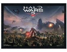 Halo Wars 2 Black Wooden Framed Battle Maxi Poster 61x91.5cm