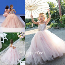 Formal Lace Bridesmaid Flower Girls Dresses Gowns Wedding Party  Free Shipping