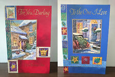 Large Christmas Cards-For You Darling-To The One i Love - 27.5cm x 18cm approx