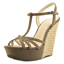 Jessica Simpson Bevin   Open Toe Leather  Wedge Sandal NWOB