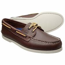 NEW Sperry Top-Sider 0195115 Dark Brown Leather Boat Shoe
