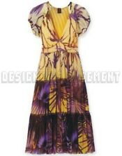 JEAN PAUL GAULTIER yellow & violet RAINFOREST empire dress NWT Authentic JPG!