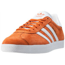 adidas Gazelle W Womens Trainers Orange White New Shoes