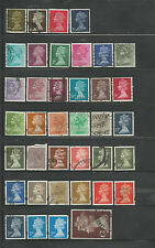 38 Different Used Great Britain Machin Stamps