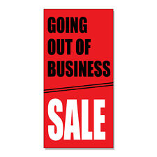 Going Out Of Business Sale Red Business  DECAL STICKER Retail Store Sign