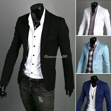 C1MY 4colors Stylish Men's Casual Slim fit One Button Suit Blazer Coat Jackets