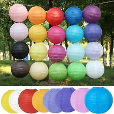 """Multicolor Chinese paper Lanterns Wedding Party Decoration 8"""" 12"""" 16"""" 20"""" Hot C1"""
