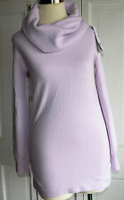 NWT FRENCH CONNECTION Baby Soft Long Sleeve COWL NECK  Sweater Size SMALL VIOLET
