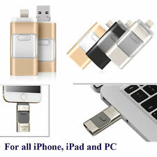 3 IN 1 Flash Drive USB U Disk Memory Stick for iPhone IOS Android iPad PC 128GB