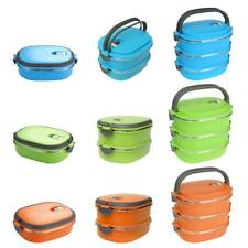 1/2/3 LayerStainless Steel Thermal Lunch Box Bento Food Picnic Container Kitchen