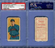 1909-1911 T206 SWEET CAPORAL MILLER HUGGINS HANDS AT MOUTH PSA 2 (1685)