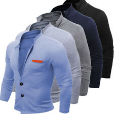 Men's Casual Slim Stand Collar Coat Jacket Outerwear Overcoat Tops Blazer Hot 03