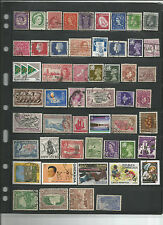 51 Different Used British Colonies Stamps