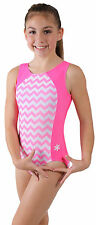 NEW!! Chevrons Pink and White Gymnastics or Dance Leotard by Snowflake Designs