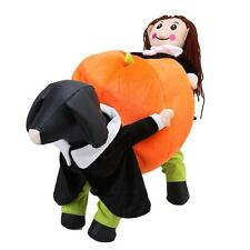 Funny Halloween Pet Dog Costumes Carry Pumpkin On Back Cosplay Clothes Apparel