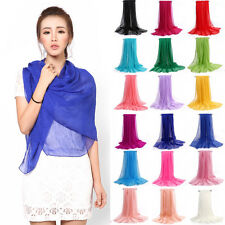 New Women's Silk Solid Shawl Wrap Scarves Long Wraps Shawl Beach Silk Scarf Hot