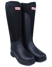New Hunter Balmoral Equestrian Neoprene Stretch Wellington Boots - Black