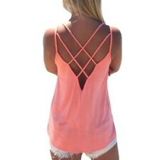Summer 2016 Sexy Women Tank Top Ladies Camisole Sleeveless Strap Vest  Backless