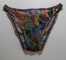 Mens Sheer Swimsuit Bikini Rise Brief Rio Half or Thong 2 remaining 1 s 1 L