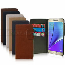 SYNTHETIC SUEDE LEATHER WALLET ID CREDIT CARD CASE FOR SAMSUNG GALAXY NOTE 5