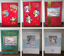 Large Christmas Cards - Dad - 29cm x 21.5cm approx - Buy 1 get 1 Half Price