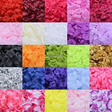 100pcs/bag Flowers Silk Rose Petals Wedding Party Table Confetti Decoration ED