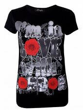 New Womens I'm In Love With London Short Sleeve Round Neck Casual TShirt Top S/M