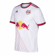 adidas New York Red Bulls NYRB MLS 2017 Soccer Home Jersey White / Red