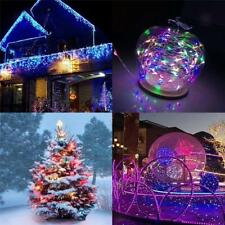 100/200 LED Solar Powered String Fairy Light Party Garden Xmas Decor 3 Colors