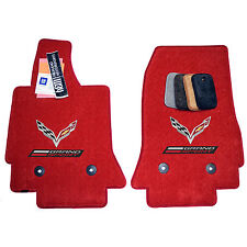Chevrolet Corvette C7 Grand Sport Floor Mats - Flags Grand Sport Logos - Custom