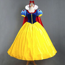 Moive Snow White Princess Party Stage Fancy Dress Cape Cosplay Costume Halloween
