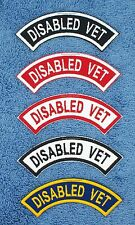 1 DISABLED VET SERVICE DOG REVERSE ROCKER PATCH Danny & LuAnns Embroidery