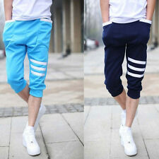 Mens Sport Capri Harem Pants Cropped Trousers Jogger Gym Baggy Dance Sweat pants